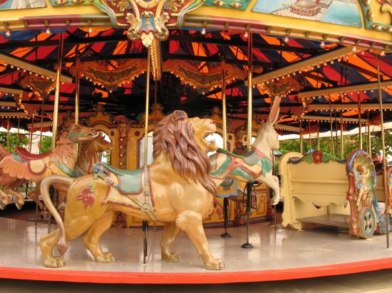 Lion on a Merry-Go-Round